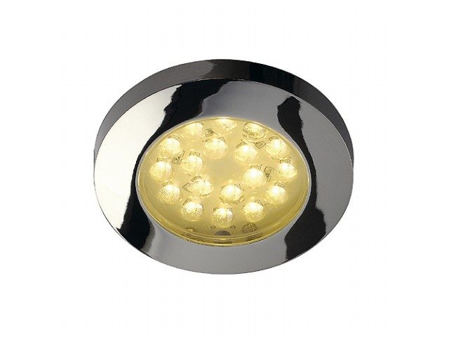 LED inbouwspot | 18 LEDs | Rond | 1,4W | 12V | Warm Wit | L