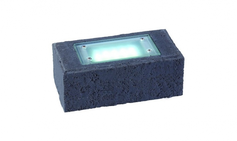 Garden Lights - Uplight Exillis Steen antraciet (6000K | 2 W | 50lm | 12V | 200x100x75mm)