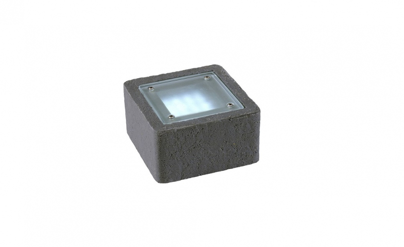 Garden Lights - Uplight Xerus Steen antraciet (6000K | 2 W | 50lm | 12V | 140x140x75mm)
