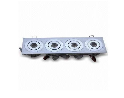 LED inbouwspot | 4 LEDs | Vierkant | 12W | 12V | Warm Wit