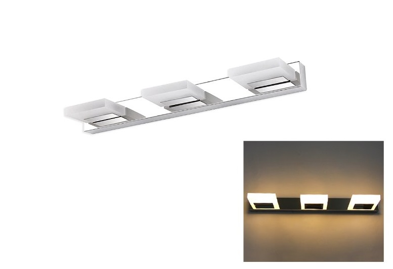 LED Spiegel / Kastverlichting set | 1 Lampje | 12W | Chroom | MACcm5870.12W