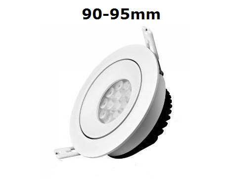 LED spots inbouwmaat 90-95 mm