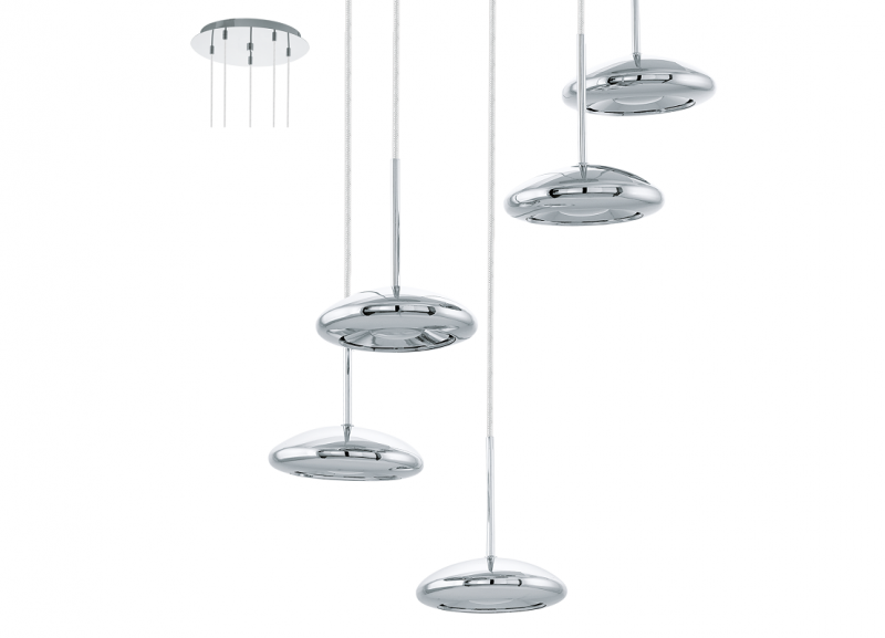 Eglo | Chrome LED Hanglamp | 5 x 4,5W | TARUGO