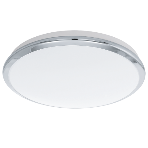 Eglo Plafonniere / wandlamp | 18W | ¢385mm | LED MANILVA | Warm Wit | Chroom