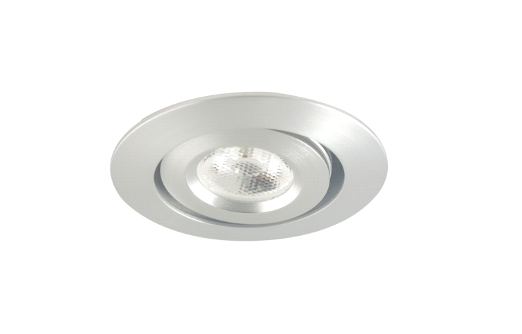 LED inbouwspot | 1 LED | Rond | 3W | 700mA | Warm Wit | WLDA201B3WWW700 | Alu