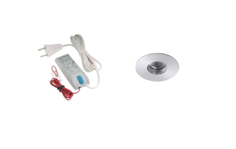 LED inbouwspot | 1 LED spots | 180Lm | Doe Het Zelf LED Kit | Warm Wit | 111B