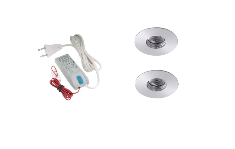 LED inbouwspot | 2 LED spots | 180Lm | Doe Het Zelf LED Kit | Warm Wit | 111B