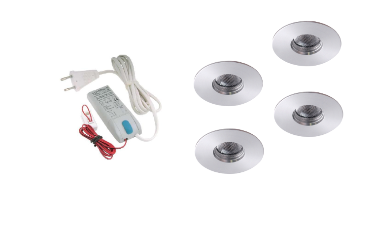 LED inbouwspot | 4 LED spots | 180Lm | Doe Het Zelf LED Kit | Warm Wit | 111B