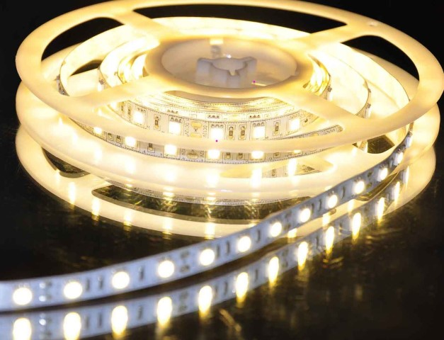 SMD LEDstrip | Waterdicht | 12V | 14,4W | 60 LEDs | 1M | Warm Wit | IP67