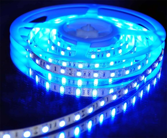 SMD LEDstrip | Waterdicht | 12V | 4,8W | 60 LEDs | 1M | Blauw | Silicoon
