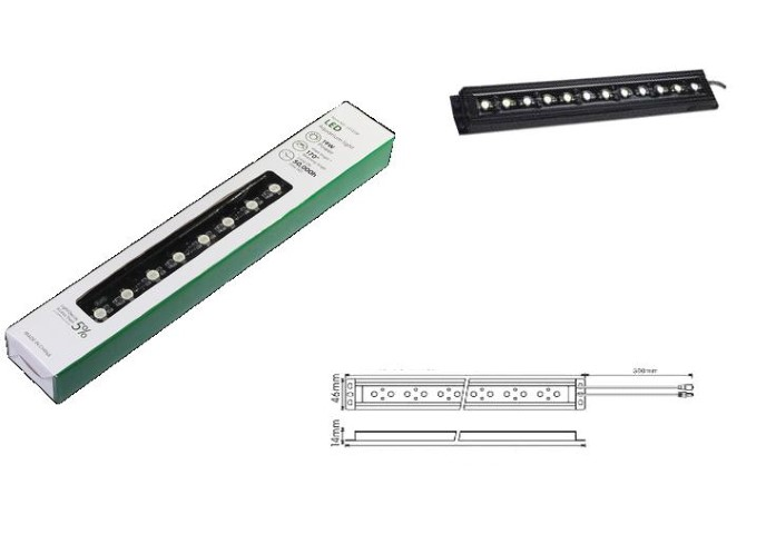 LED Strip | Plat | Type High Power | 121cm | Warm Wit | 66W
