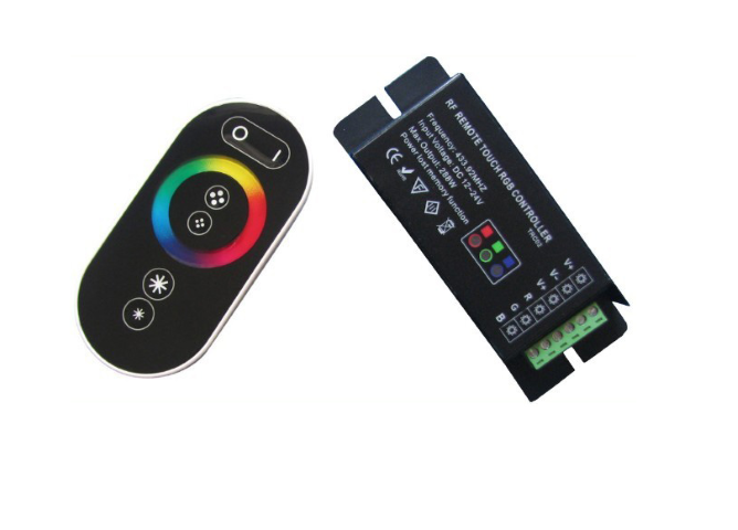 APPLE Control | Black | RGB LED Controller | 3 x 72W | 12-24V | + Afstandbediening