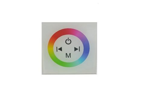 Wall RGB LED Controller | RGBw@re | 3 x 48W | 12-24V | Wallpanel 10 | Wit