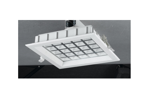 LED inbouwspot | 25 LEDs | Vierkant | 30W | Warm Wit
