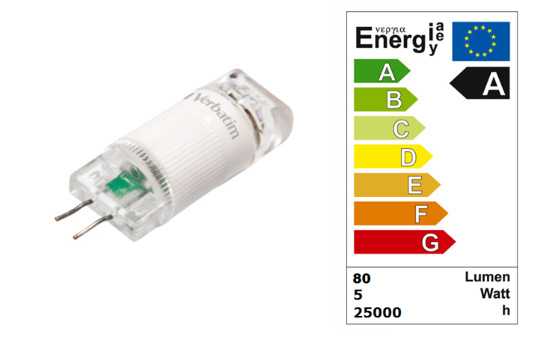 LED steeklampje | 12V | 1W | VV 10W | Warm Wit | G4 | 80Lm
