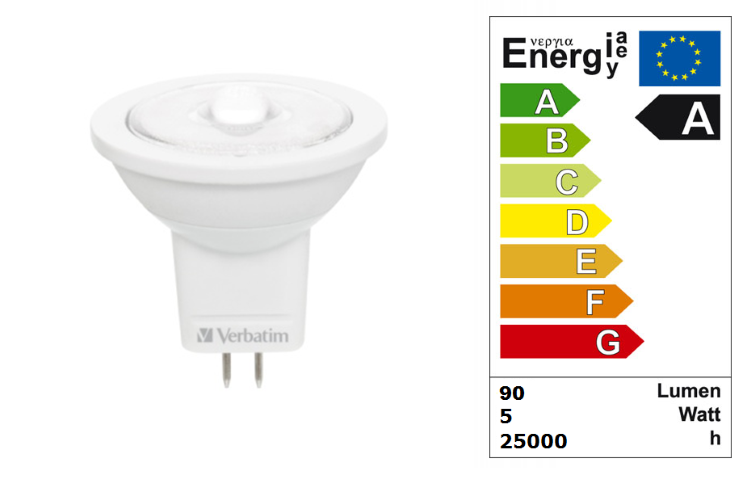LED steeklampje | 12V | 1 LED | 2,5W | VV 15W | Warm Wit | GU4 | MR8 | 38 graden