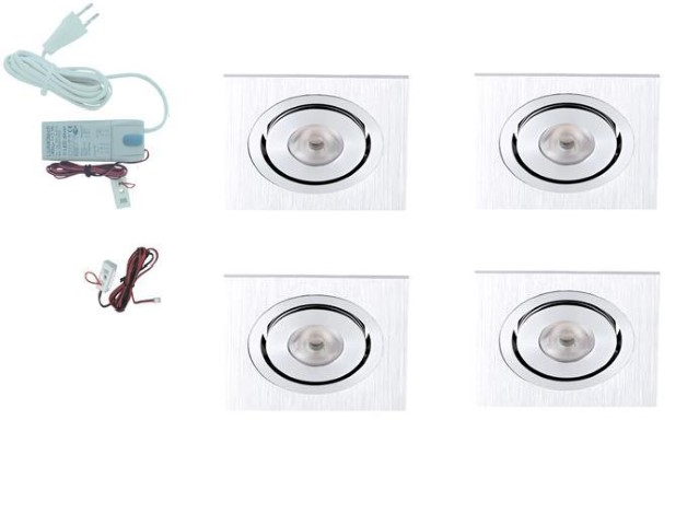 LED inbouwspot | 5 LED spots | 190Lm | Doe Het Zelf LED Kit | Warm Wit | Vierka
