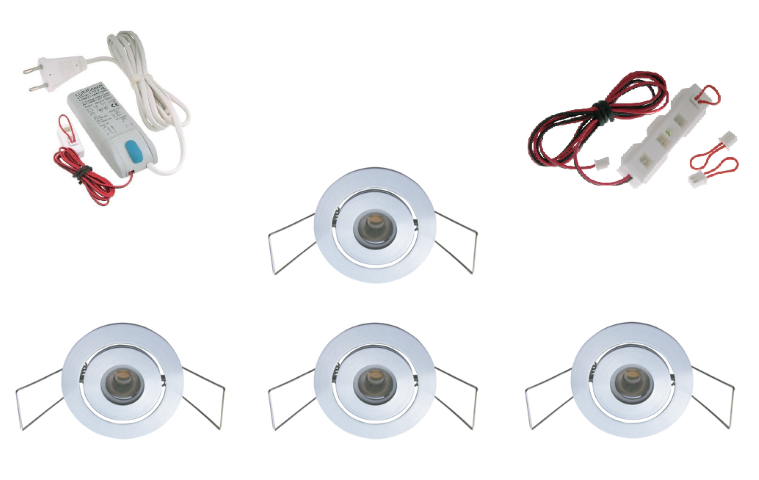 Lumoluce | Luxor | LED inbouwspot | 4 LED spots | 210Lm | Doe Het Zelf LED Kit | Warm Wi