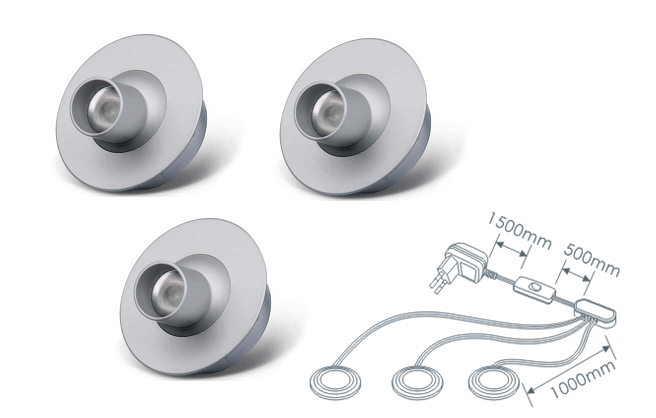 LED inbouwspot | 3 LED spots | 80Lm | Doe Het Zelf LED Kit | Warm Wit | 2321