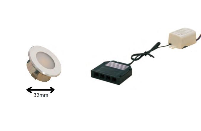 LED inbouwspot | 1 LED spots | 100Lm | Doe Het Zelf LED Kit | Warm Wit | DP05