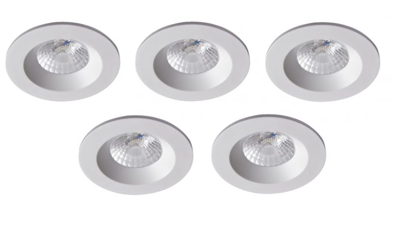 Robus | RC8WDLDWW-01 | LED inbouwspot | 5 LED spots | 575Lm | 5 x 8W | Wit