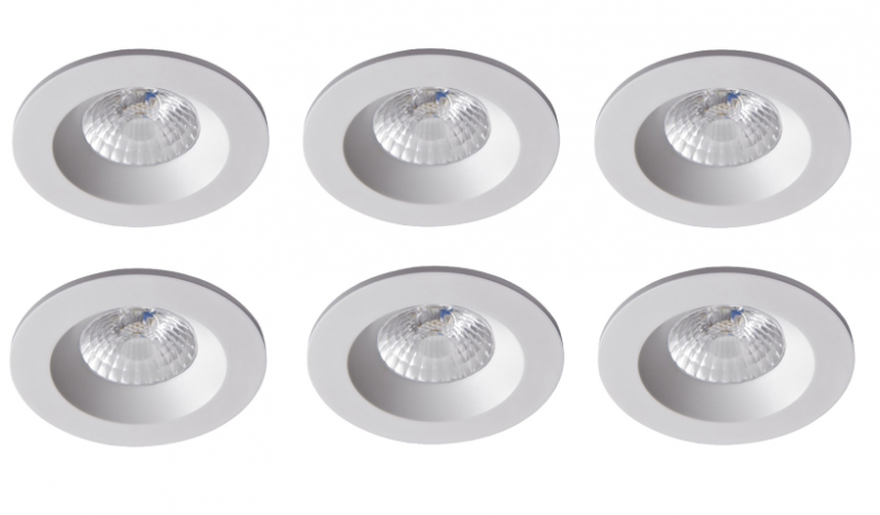 Robus | RC8WDLDWW-01 | LED inbouwspot | 6 LED spots | 575Lm | 6 x 8W | Wit