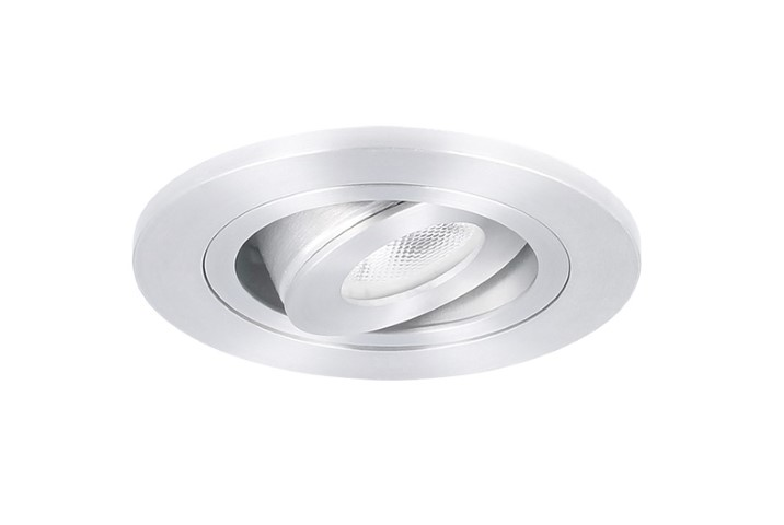 LED inbouwspot | 1 LED | Rond | 3W | 700mA | Warm Wit | LW201AC3WWW700 | Alu