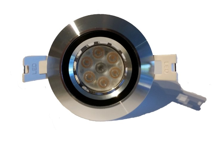 LED inbouwspot | 7 LEDs | 400Lm | Rond | 6W | Warm Wit | LW90ARM888155W