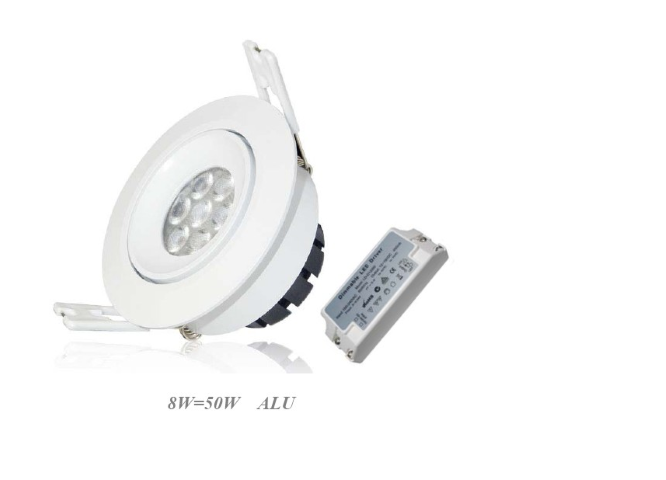 LED inbouwspot | 8 LEDs | Rond | 8W | Warm Wit | LWC2