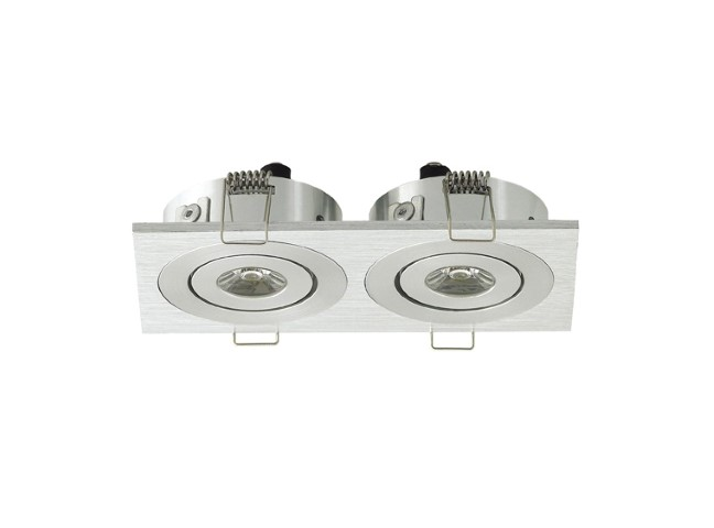 LED inbouwspot | 2 LEDs | Vierkant | 3W | 700mA | Warm Wit | LWD3W202WW700