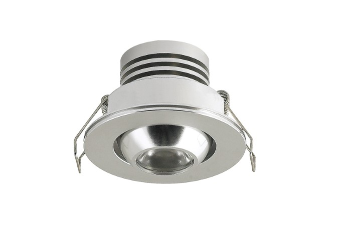LED inbouwspot | 1 LED | Rond | 3W | 700mA | Warm Wit | LWD3W101CWWW700 | Chro