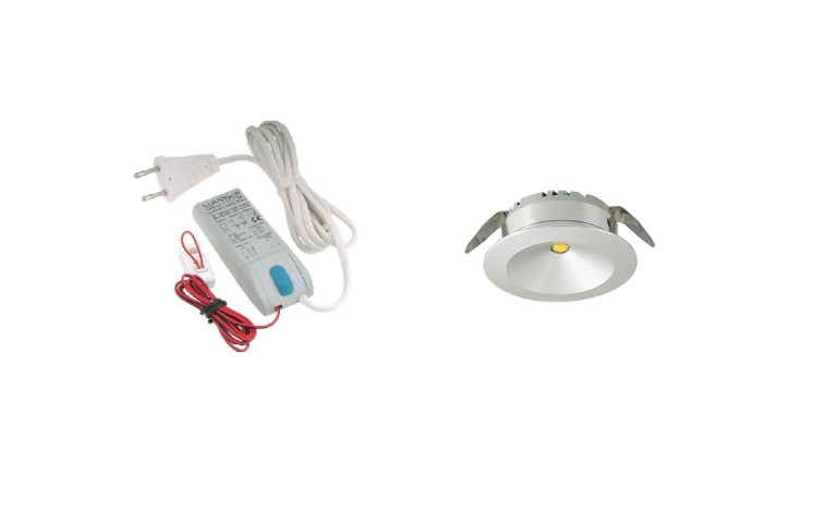 LED inbouwspot | 1 LED spots | 180Lm | Doe Het Zelf LED Kit | Warm Wit | 101A