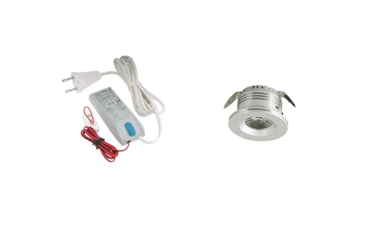 LED inbouwspot | 1 LED spots | 180Lm | Doe Het Zelf LED Kit | Warm Wit | Rond