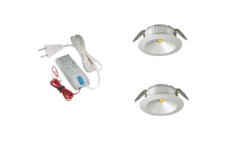 LED inbouwspot | 2 LED spots | 180Lm | Doe Het Zelf LED Kit | Warm Wit | LW101A