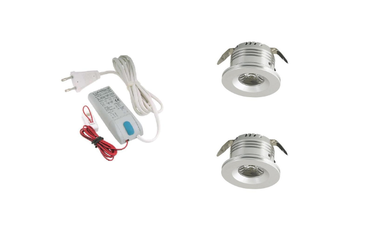 LED inbouwspot | 2 LED spots | 180Lm | Doe Het Zelf LED Kit | Warm Wit | LW101B