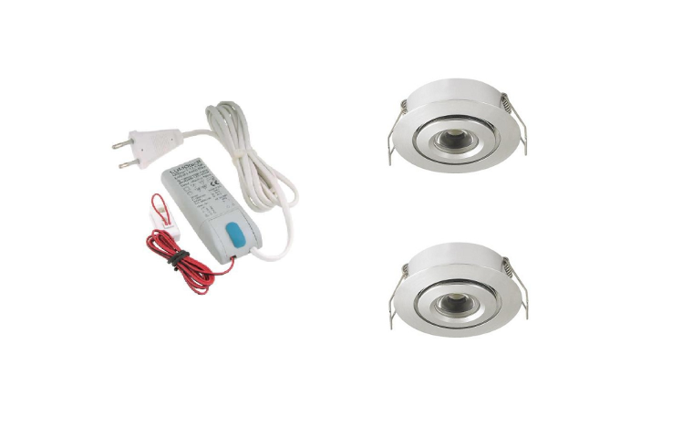 LED inbouwspot | 2 LED spots | 180Lm | Doe Het Zelf LED Kit | Daglicht Wit | LW