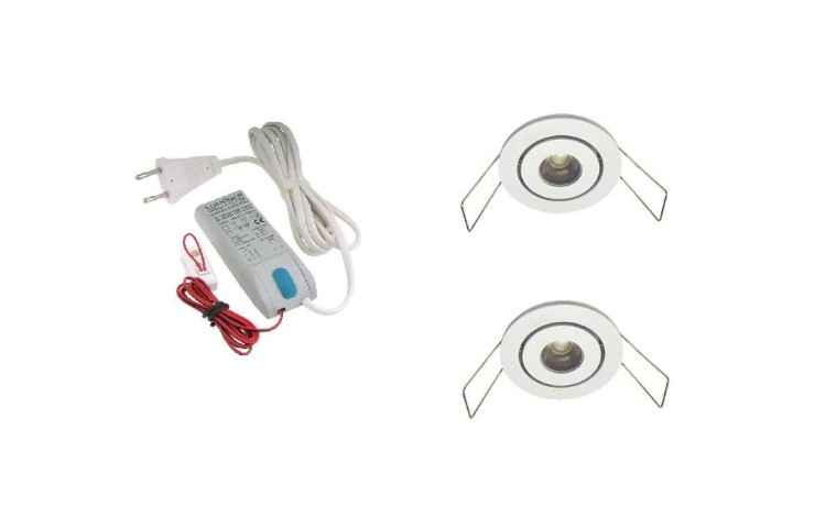 LED inbouwspot | 2 LED spots | 180Lm | Doe Het Zelf LED Kit | Warm Wit | LW105W