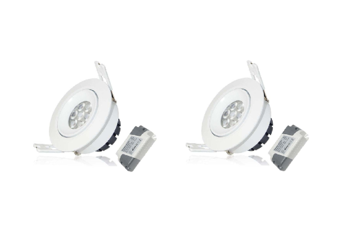 LED inbouwspot | 2 LED Spots | 380Lm | Doe Het Zelf LED Kit | Warm Wit | LWC260