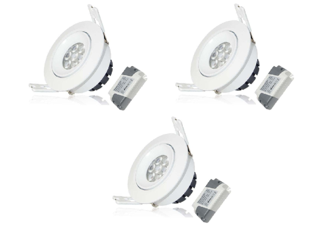 LED inbouwspot | 3 LED Spots | 380Lm | Doe Het Zelf LED Kit | Warm Wit | LWC260
