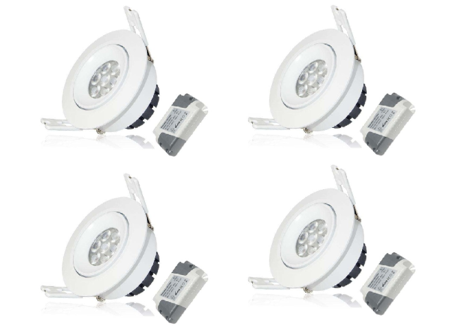 LED inbouwspot | 4 LED Spots | 380Lm | Doe Het Zelf LED Kit | Warm Wit | LWC260