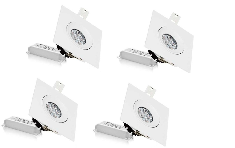 LED inbouwspot | 4 LED Spots | 490Lm | Doe Het Zelf LED Kit | Warm Wit | LWC250