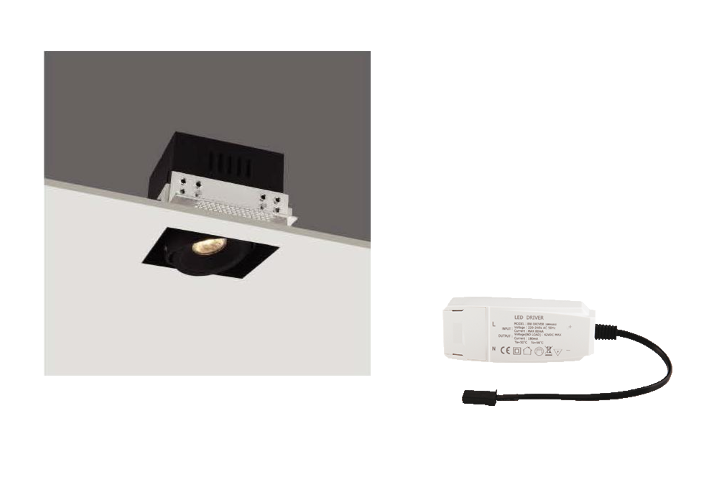 LED inbouwspot | 1 LED spots | 560Lm | Doe Het Zelf LED Kit | Warm Wit | R3B007