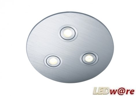 LED inbouwplaat | 3 LEDs | Rond | Lumoluce R200