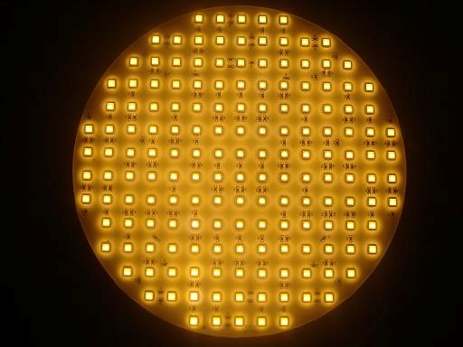 SMD LEDplaat | 12V | 38W | 162 LEDs | Diamemter 25cm | Warm Wit | IP65