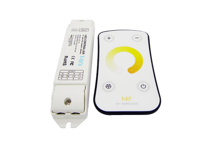 LED Dimmer | 12-24V | 3 x 5A | met RF afstandbediening | Mini | Type M2