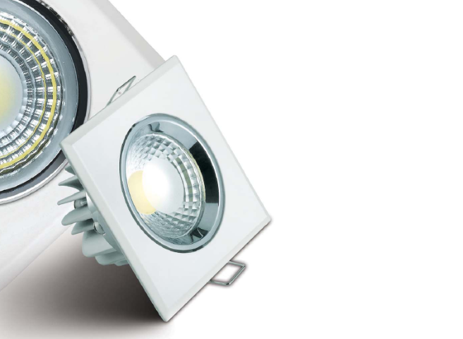 LED inbouwspot | 1 LED | Vierkant | 5W | 450Lm | Doe Het Zelf LED Kit | War