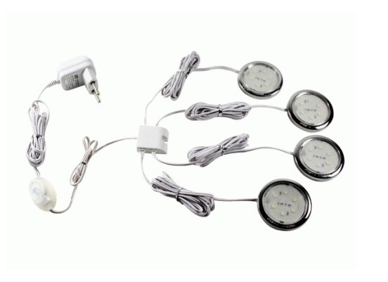 LED Kastverlichting set | 4 Lampjes | 4 x 0,5W | Warm Wit