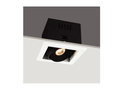 LED inbouwspot | 1 LED | Vierkant | 6W | 720mA | Warm Wit | LWD3R3B0080WW