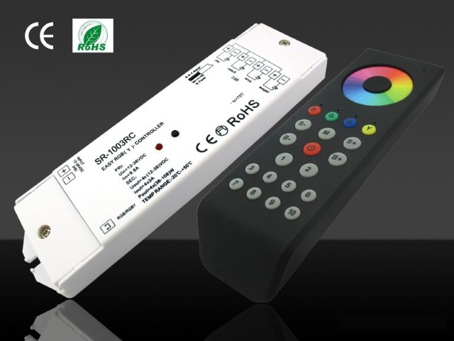 RGBw@re | RGBW LED Controller Set | 4 x 96W | 12-36V | met afstandbedienin