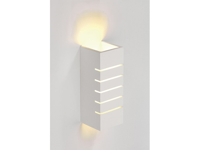 LED Wandlamp | GL 100 Gips | 1 x 3W | Warm Wit